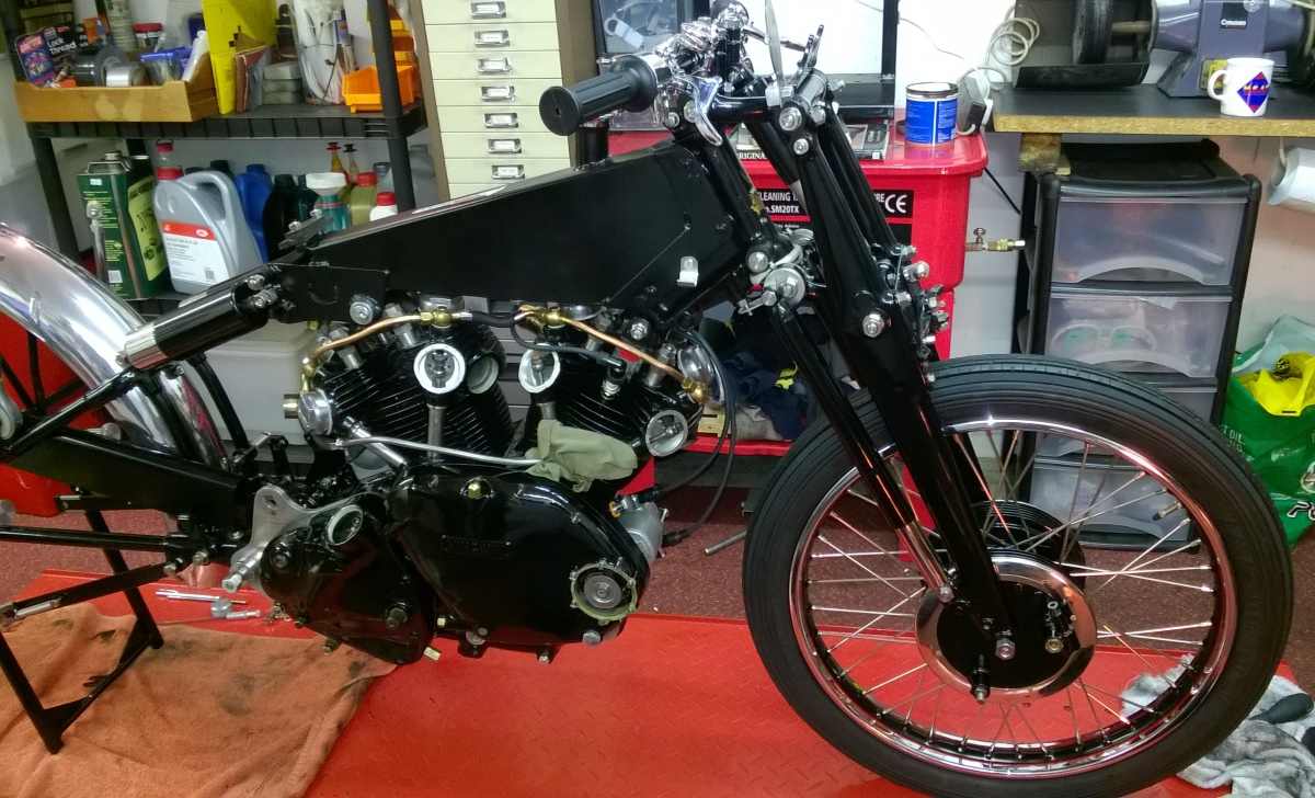 Example of restoration to a Vincent Black Shadow
