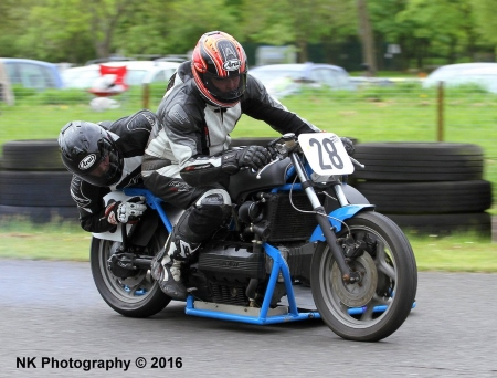 Dean and Ben Dickinson on the 2016 championship winning K100, BSK tuned motor.
