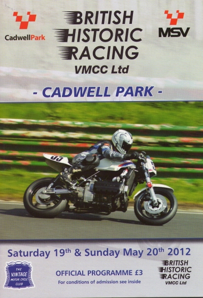 Cadwell program May 2012