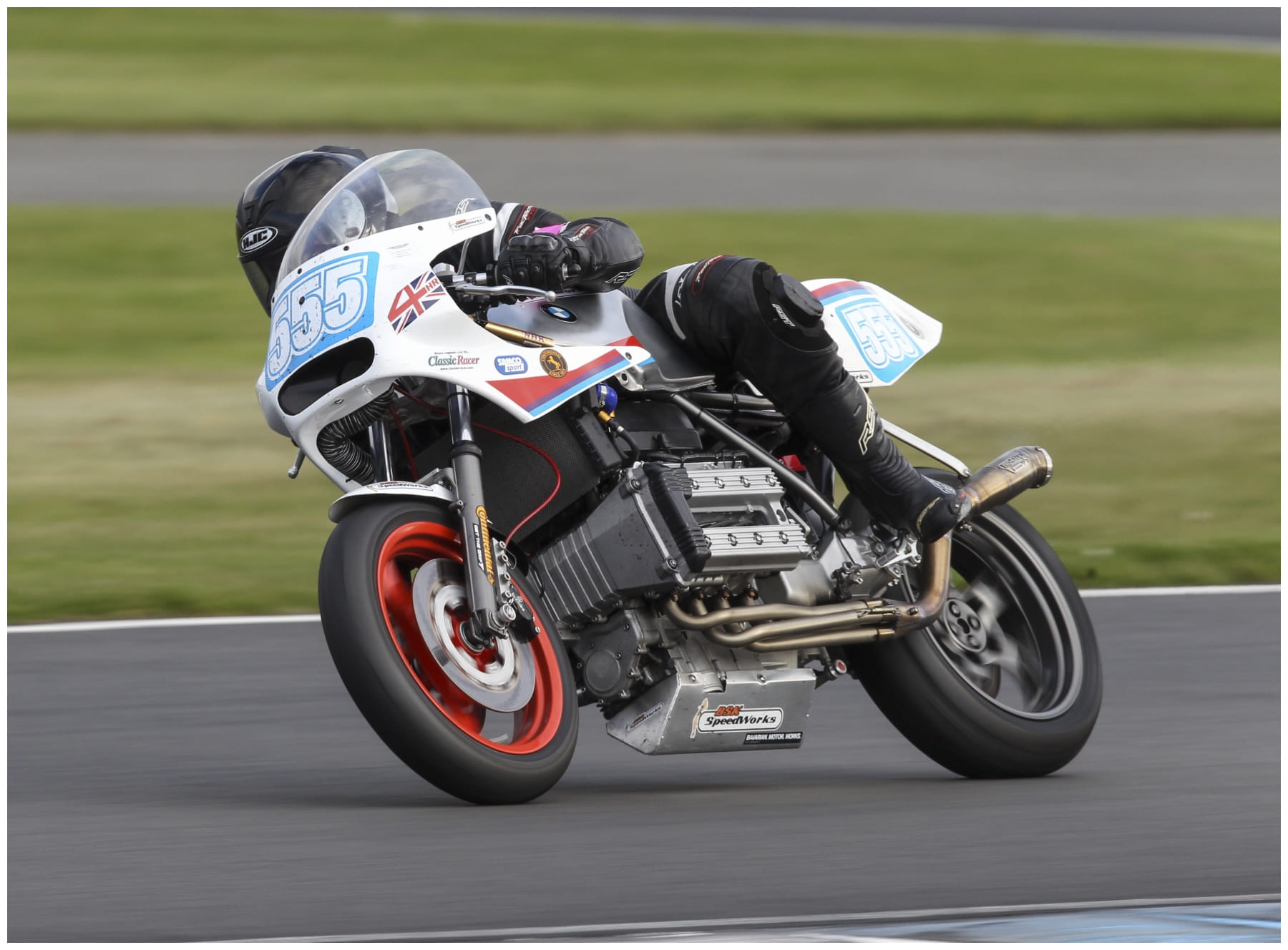 BSK SpeedWorks BMW K100 Endurance Racer, on the way to the Endurance legends 4hr race podium