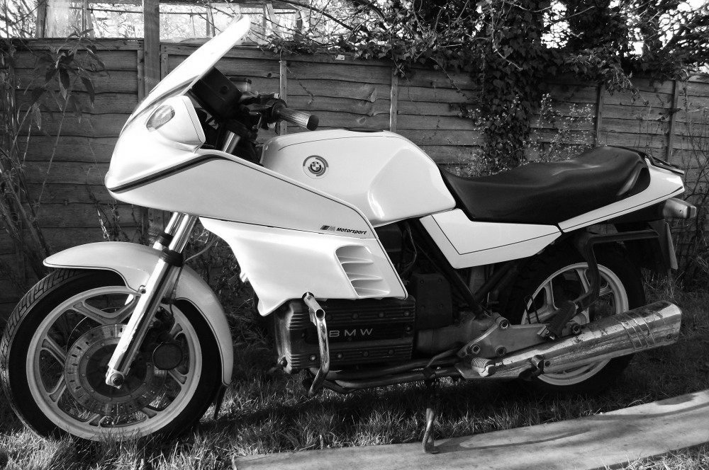 The donor bike, 1985 k100rs 'Motorsport'.