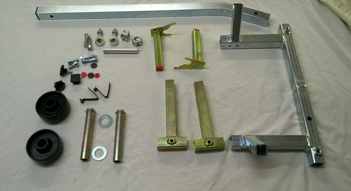 Race Paddock Stand and fitting kit for K Series BMW - components