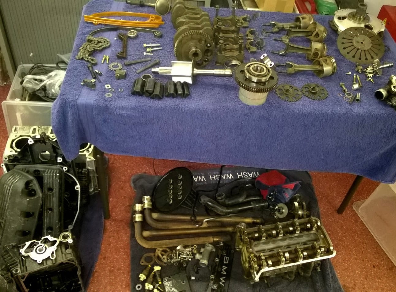 Various engine parts